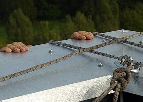 Abseilverfahren, doppelte Seilsicherung, Sicherheit